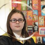 Students take part in a Harry Potter Book event.