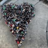 Students at St Michael's form a heart shape to illustrate our school theme this year  which is 'Kindness'.